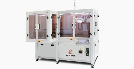 自動スマートフォンカバーレンズスクリーン印刷機(トレイキャリア) - CCDレジストレーションにより、カバーレンズとタブレットガラスのレジストレーションマークなしの画像をキャプチャすることにより、±5µmの精度が達成され、中心の印刷精度が実現されます。