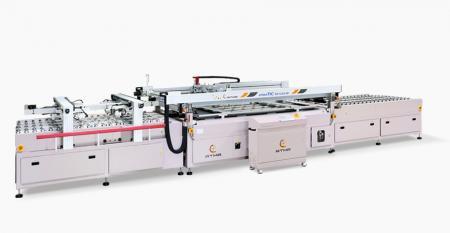 Automatischer Siebdrucker für Front- / Heckscheibe im Automobilbereich - Automatische Inline-Verarbeitung für den Autofront- und Heckscheibenglasdruck, die ein Produktivitätswerkzeug ist, um Arbeitskraft zu sparen.