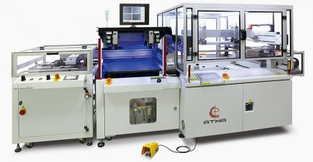 Automatic CCD Registering Screen Printer (thin film) - Realize touch control diverse products evolution toward direction of  light weight, thin, short and small, duly satisfies with customer's goal of  massive production.