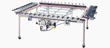 Screen Fabric Stretcher - Mechanical Screen Fabric Stretcher, for stretching screen fabric to make a screen printing stencil.