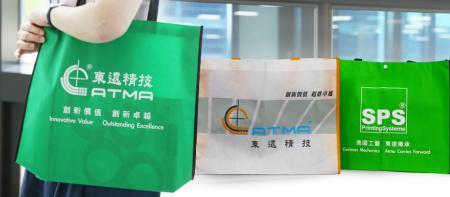 リサイクルバッグスクリーン印刷機 - ロゴや広告資料をリサイクルバッグに直接印刷します。