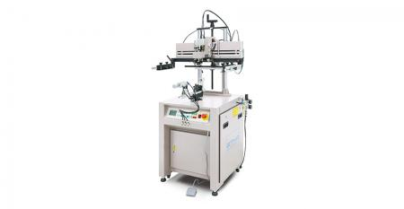 Pneumatic Mini Curve Screen Printer - Suitable for screen printing cylindrical, conical, oval shaped and curve with small diameter, such as cup, mug, bottle, pipe, tube, can and so on.