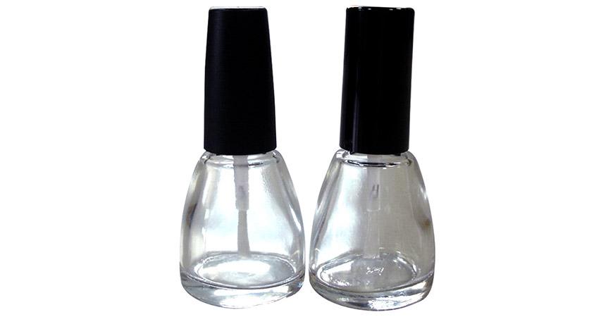 GH15603 - GH12603: زجاجات طلاء أظافر زجاجية شفافة مدببة الشكل سعة 13 مل