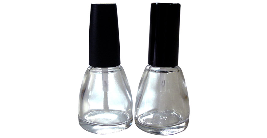 GH15 603 - GH12 603: 13ml Tapered Shaped Clear Glass Nail Polish Bottles