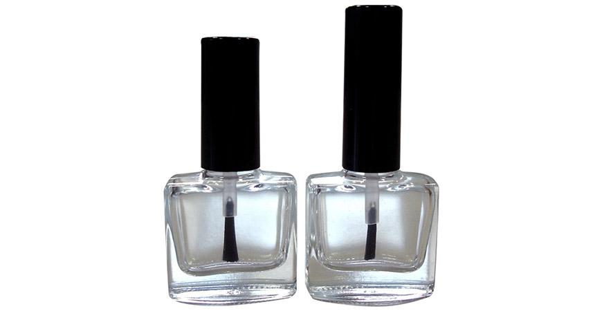 GH03 614 - GH19 614: Botella de esmalte de uñas plana cuadrada de 10 ml