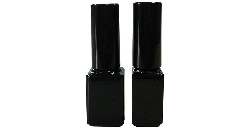 GH03 632BB - GH03 604BB: Bouteilles en verre de vernis à ongles en gel UV vides de forme rectangulaire de 7 ml et 4 ml
