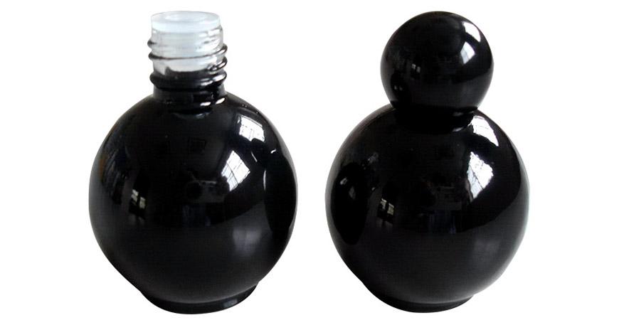 Ball Shaped Black Glass