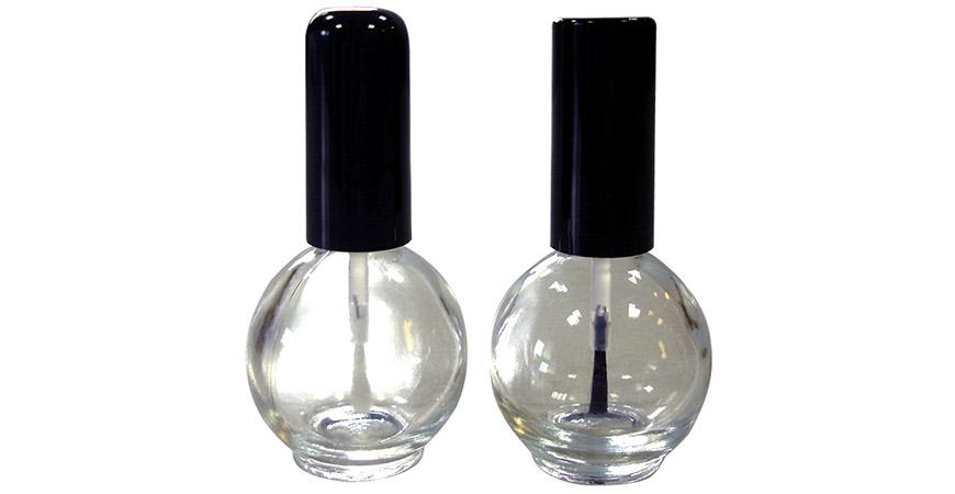 GH26 664 - GH03 664: 15ml Ball Shaped Clear Glass Nail Glue Bottles