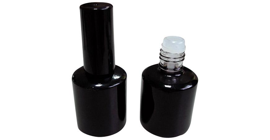 GH12 696BB: 15ml UV-Gel-Nagellackflasche mit Kappe und Pinsel