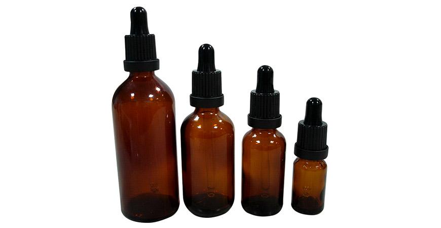 5 ml ~ 100 ml de flacons compte-gouttes en verre ambré d'huile essentielle pharmaceutique