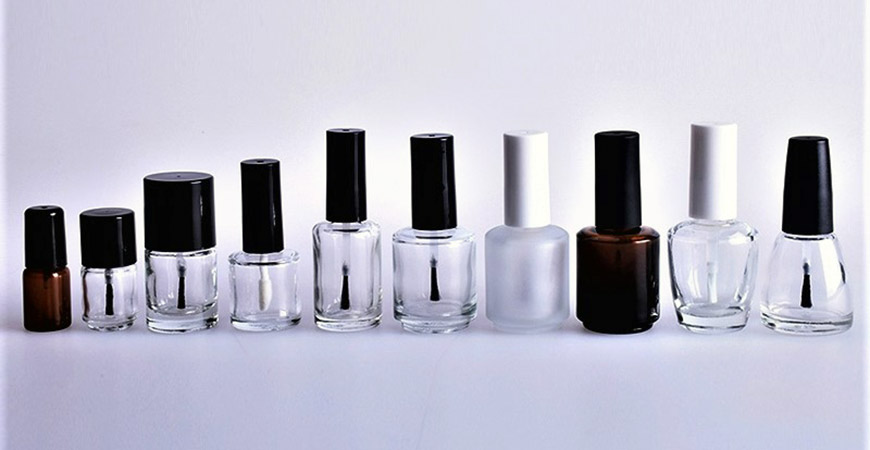 Nail polish Bottles with different neck sizes.