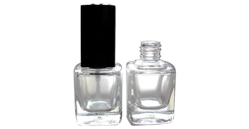 GH23 719: 10 ml quadratische Glasflasche mit 13/415 Halsgröße