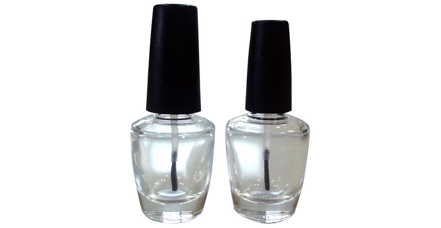 GH17 683 - GH15 683: 15ml OPI Shaped Clear Glass Bottle with 15/415 Neck Size