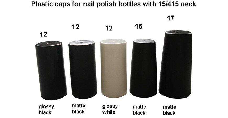 Kunststoffkappen für Nagellackflaschen mit 15/415 Hals