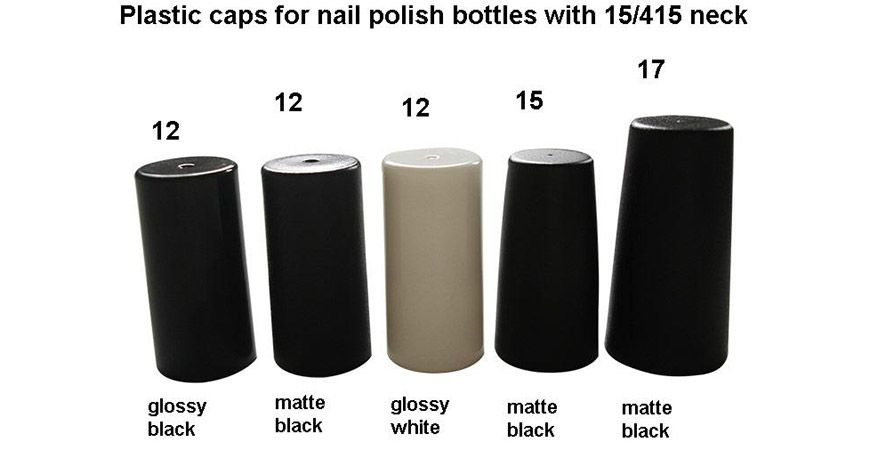 Plastic Caps for Nail Polish Bottles with 15/415 Neck