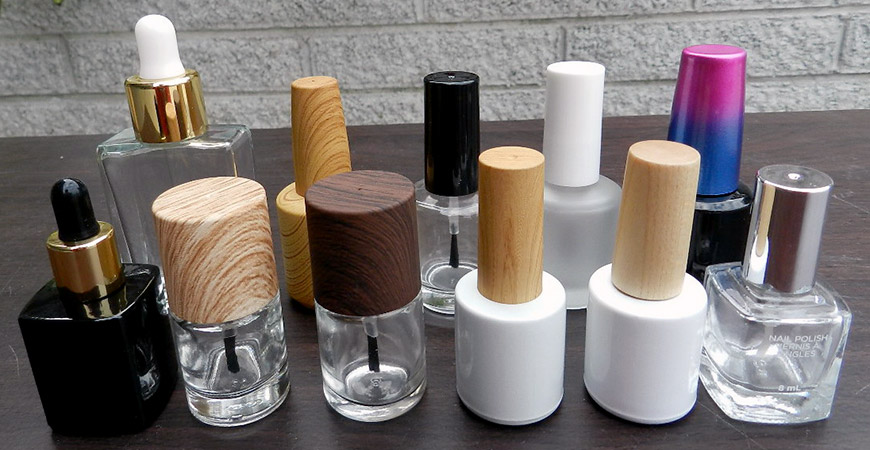 Nail polish Bottles in Different Shapes.