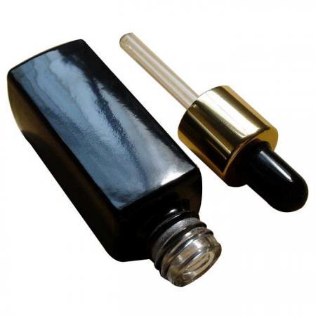 GH602BBD: flacon noir de 10ml avec compte-gouttes