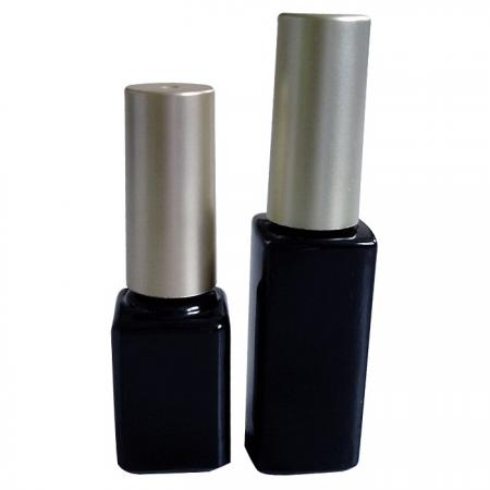 GH03P 632BB – GH03P 602BB: 7ml and 10ml Black Bottle with silver/gold round cap
