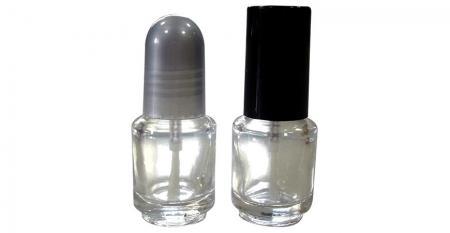Bouteille de vernis à ongles en verre transparent rond de 5 ml
