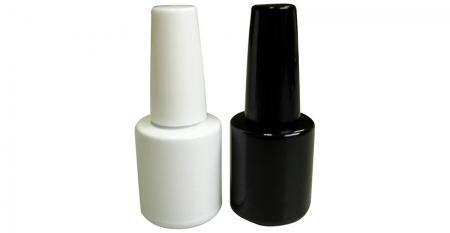 Bouteille en verre de vernis à ongles en gel UV vide de 10 ml - GH33 612WW - GH33 612BB: Bouteilles en verre de vernis à ongles en gel UV blanc et noir vides de 10 ml