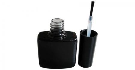 10ml Flat Square Empty UV LED Nail Lacquer Bottle
