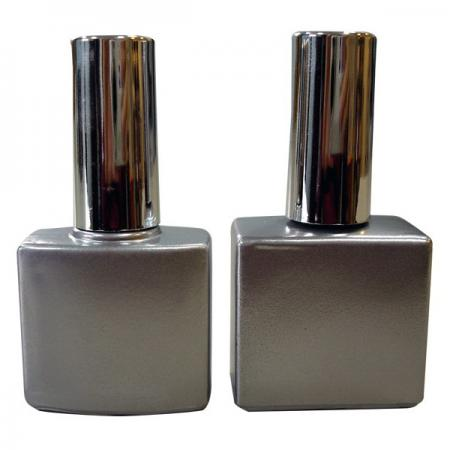 GH03P 614BS: 10ml Matte Silver Bottle with Silver electro-plated cap