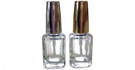 Bouteille de colle à ongles en verre de forme rectangulaire de 12 ml avec couvercle - GH15P 620: Bouteille de colle à ongles en verre de forme rectangulaire de 12 ml avec couvercle
