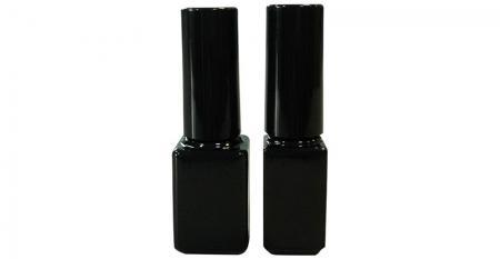 Bouteille en verre de peinture à ongles en gel vide de forme rectangulaire de 7 ml