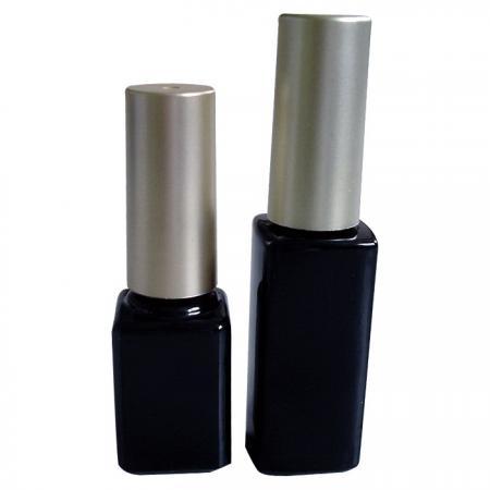 GH03P 632BB – GH03P 602BB : Flacon noir de 7 ml et 10 ml avec bouchon électro-plaqué argent/or