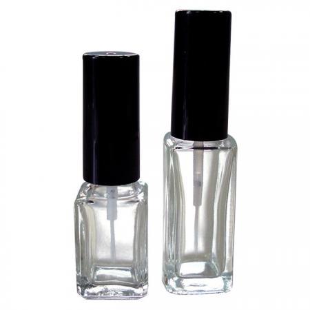 GH03E 632 – GH03E 602: Bouteille en verre transparent de 7 ml et 10 ml avec pinceau pour nail art