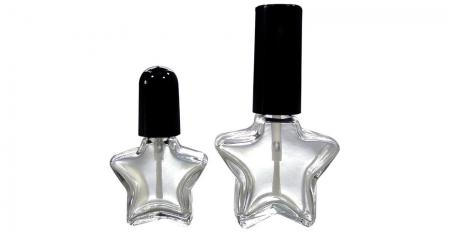 5ml Star Shaped Clear Glass Nail Polish Bottle - GH02 645 - GH03 675: 5ml and 10ml Star Shaped Clear Glass Nail Polish Bottles