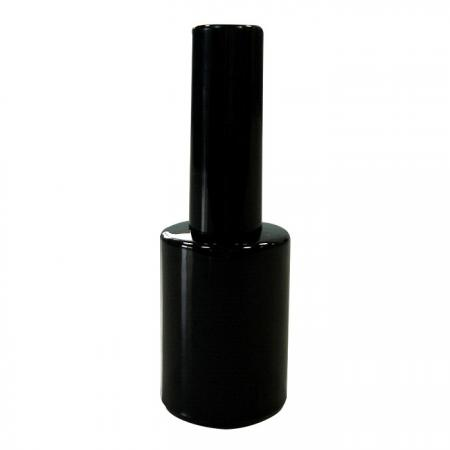 GH19 649BB: 15ml Black Bottle with Cap and Brush