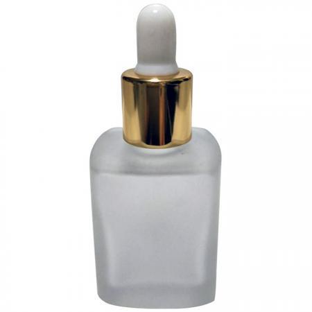 GH650FD: Botella de vidrio esmerilado de 15 ml con gotero