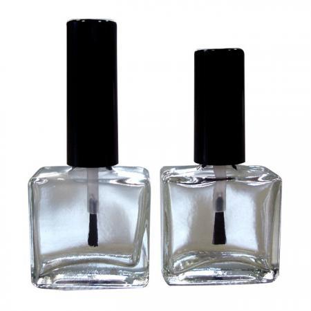 GH19 651 - GH03 651: Botella de pulido de vidrio cuadrada plana de 15 ml