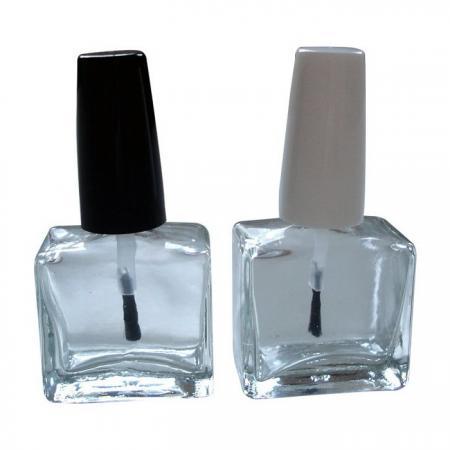 GH33 651: Botella de pulido de vidrio cuadrada plana de 15 ml
