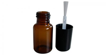 3ml Braunglas-Röhrchenflasche mit Kappe und Pinsel - GH24 663A: 3 ml bernsteinfarbene Glasröhrchenflasche mit Kappe und Pinsel