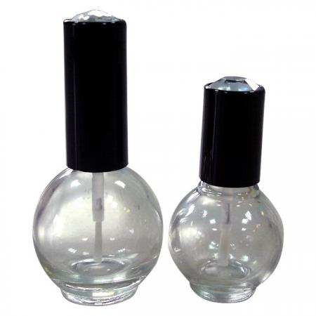 GH04 664 – GH07 611: 15ml and 11ml Ball Glass Bottle with Gem Cap