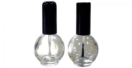 15ml Ball Shaped Clear Glass Nail Glue Bottle - GH26 664 - GH03 664: 15ml Ball Shaped Clear Glass Nail Glue Bottles