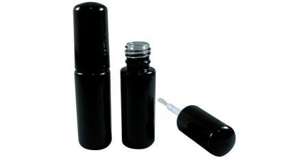 Bouteille d'huile pour ongles en gel vide en verre de forme cylindrique de 5 ml