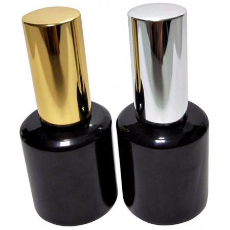 GH12A 696BB: 15ml Black Bottle with Aluminum Cap