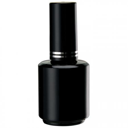 GH12H 696BB: 15ml Black Bottle + Cap with silver rings