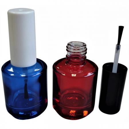 GH12 696BL – GH12 696R : Flacon transparent bleu et rouge de 15 ml