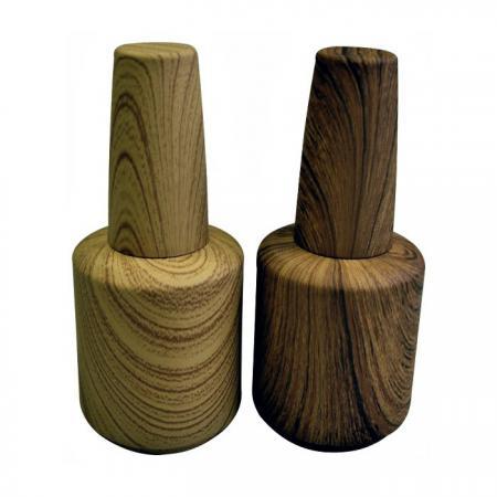 GH15 696WD: 15ml Wood Grain Designed Bottle
