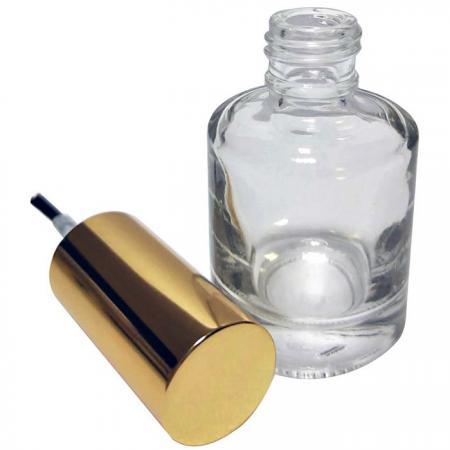 GH12A 696: 15ml Round Glass Bottle with Aluminum Cap