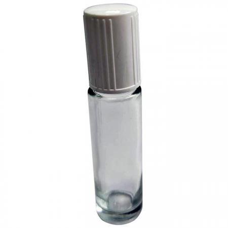 GH698: 10 ml Glasflasche mit geriffelter weißer Kappe