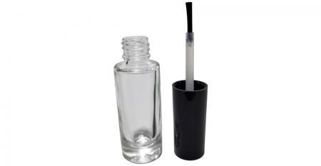 Bouteille d'huile à cuticules en verre transparent de forme cylindrique de 7 ml