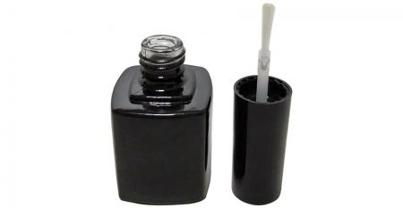 10ml Square Glass Empty Soak Off Gel Nail Polish Bottle with Brush - GH03 719BB: 10ml Square Glass Gel Nail Polish Bottle with Cap and Brush