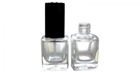 10ml Square Glass Bottle - GH23 719: 10ml Square Glass Bottle with Square Cap and Brush