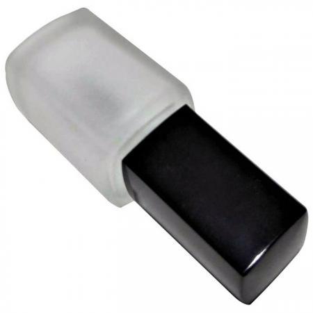GH23 720F: Botella de vidrio esmerilado de 12 ml con tapón cuadrado