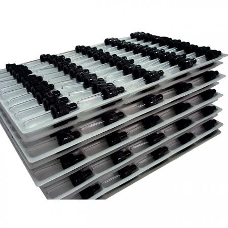Assembled Tamper Evident Droppers On Trays